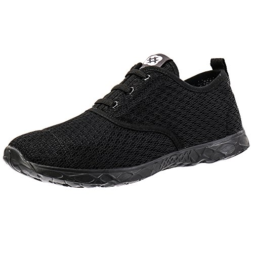 Aleader Men's Stylish Quick Drying Water Shoes All Black 9 D(M) US