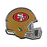 NFL San Francisco 49ers Helmet Emblem, Red, Standard