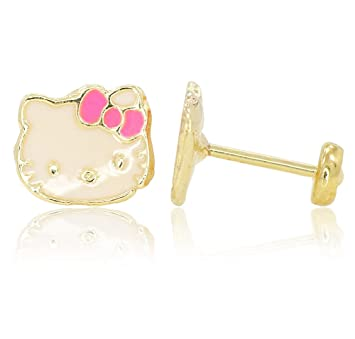 371dabe37 Amazon.com : LIMITED STOCK!!! SALE OUT!!! Hello Kitty GF 18k EARRINGS Pink  Bow Infants Toddlers Baby Earrings in : Beauty