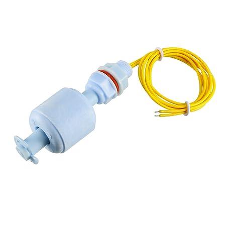 sourcingmap® Interruptor de Flotador Vertical del líquido Acuario Piscina Azul 67mm de largo, Sensor
