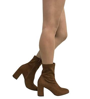 LEAF! Women's Retro Mod Block Heel Ankle Boots