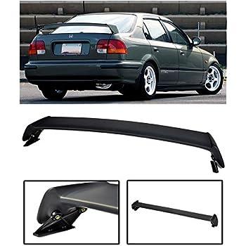 EOS Ferio Style JDM ABS Plastic Primer Black Rear Trunk Lid Wing Spoiler Extreme Online Store Replacement for 1992-1995 Honda Civic EG9 Sedan