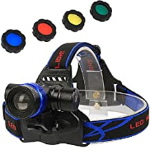 3000 Lumens XM-L T6 U2 3 Modes 4 Colors Bright Adjustable Base Headlamp Headlight Bicycle Light for Camping Biking Working Hunting Fishing Riding(include battery and charger )