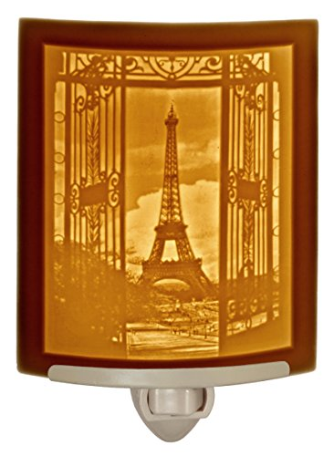 Eiffel Tower - Curved Porcelain Lithophane Night Light by The Porcelain Garden