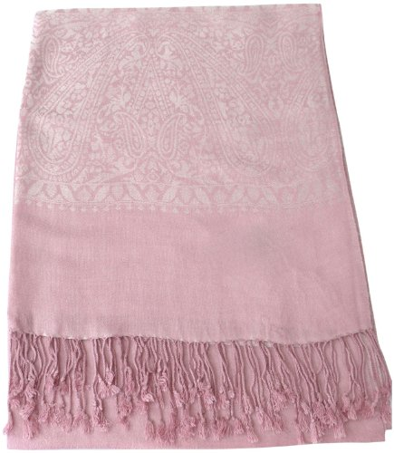 Light Pink Rose Meaning (CJ Apparel Rose Pink Paisley Pattern Shawl Pashmina Scarf Wrap Stole Seconds NEW)