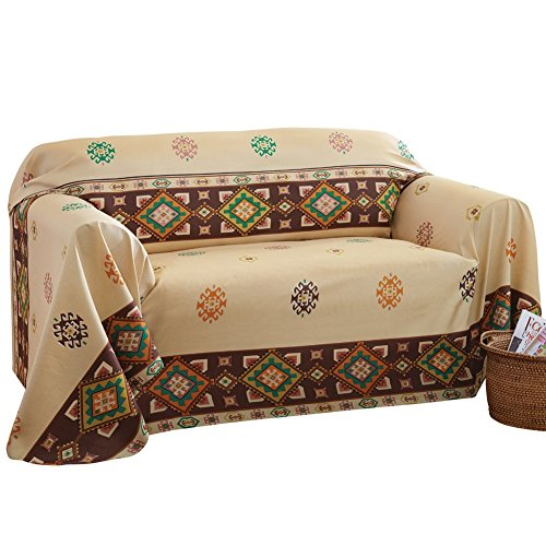 Aztec Southwest Furniture Throw Cover Large Sofa, Beige, Large Sofa (Cheap Furniture Sales)