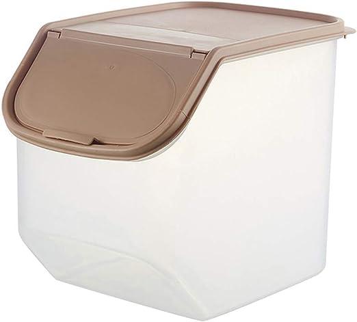 Lorjoyx A Prueba de Humedad del arroz contenedor de Almacenamiento de plástico de Cocina Caja de Cereal de arroz de Grano Sellado Organizador: Amazon.es: Hogar