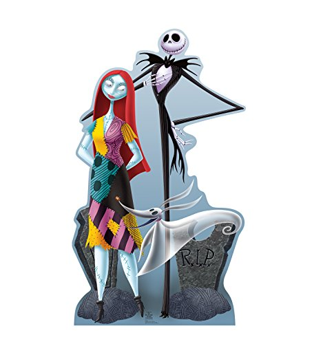 Xmas Jack - Advanced Graphics Jack, Sally & Zero Life Size Cardboard Cutout Standup - Tim Burton's The Nightmare Before Christmas