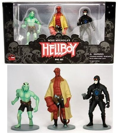 Dark Horse Comics Hellboy 4 PVC Action 3 Figure Set by Dark Horse Comics