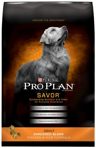 Purina Pro Plan Dry Adult Dog Food, Shredded Blend Chicken and Rice Formula, 18-Pound Bag, My Pet Supplies