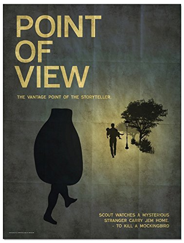 Point of View An Element of a Novel. Educational Classroom Poster featuring To Kill a Mockingbird by Harper Lee. Fine Art Paper, Laminated, or Framed. Multiple Sizes Available