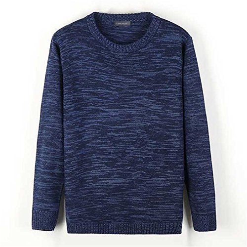 Also Easy Sweaters NEW New Leisure Comfortable O-neck Collar Knitted Pullovers Male Brand Autumn Clothing MZM545 blue S