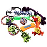 Dog Rope Toys Set, Toys for Puppies, Chew, Squeaky and Dental Toys, Dog Gift Pack for Medium to Small Dogs