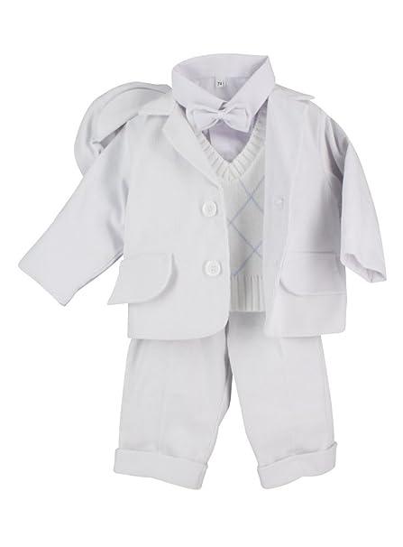 2ede57a50 Boutique-Magique - Ropa de bautizo - para bebé niño blanco 18 Meses   Amazon.es  Ropa y accesorios