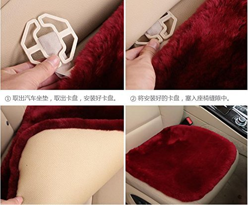 YAOHAOHAO The universal sheepskin seat cushion for comfort in a car, airplane, at home or at the office, 3. by YAOHAOHAO (Image #2)