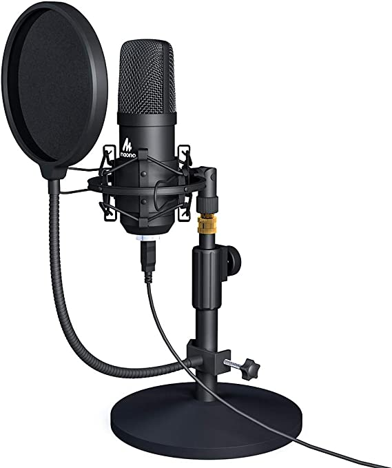 USB Microphone Kit 192KHZ/24BIT MAONO AU-A04T PC Condenser Podcast Streaming Cardioid Mic Plug & Play for Computer