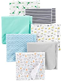 Baby Boys' 7-Pack Flannel Receiving Blankets