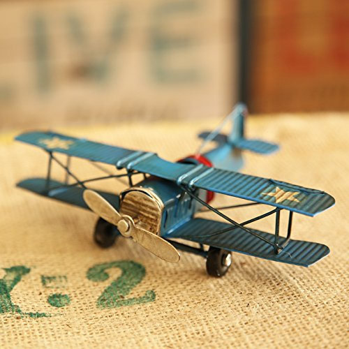 Wall of Dragon Model Home Decor Iron Plane Model Iron Aircraft Glider Biplane Pendant Airplane Figurines Status Metal Plane by Wall of Dragon (Image #5)