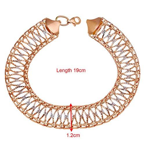 Citerna - BT1355 - Bracelet Femme - Or Bicolore 375/1000 (9 Cts) 7.2 Gr - Verre