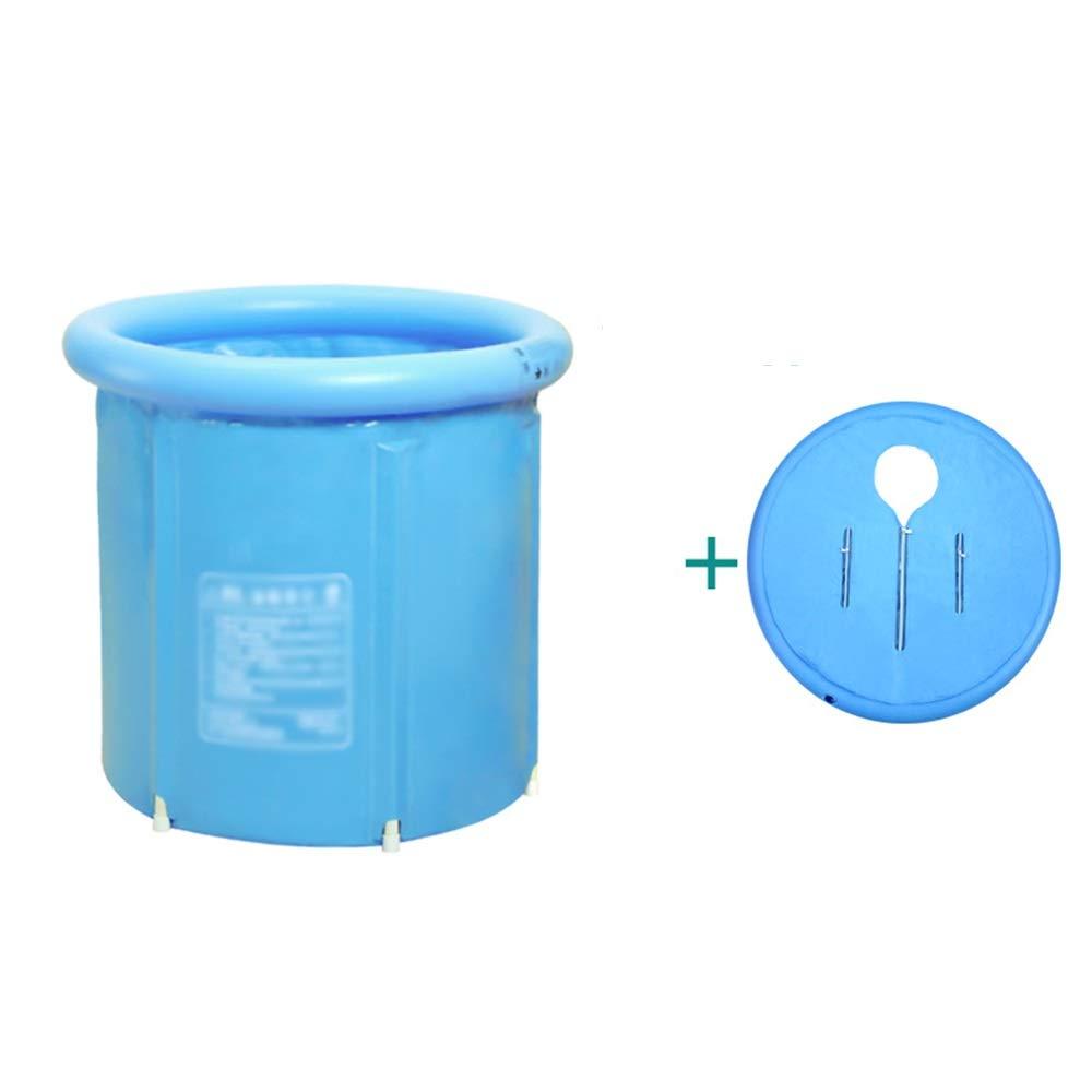GYZ Inflatable Bathtub, Portable Folding tub, Large Bathtub Plastic Household Soaking Bathtub, Thickened Insulation Adult Free-Standing Bathtub, Baby Swimming Inflatable hot tub (Size : 80x70cm)