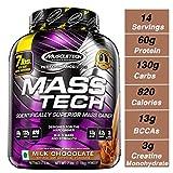 MuscleTech Mass Tech Mass Gainer Protein Powder, Build Muscle Size &...