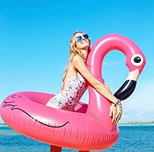 Flotador hinchable Gigante Flamenco para la piscina o playa, Flotador inflable en forma de flamencos gigante - SummerTime.