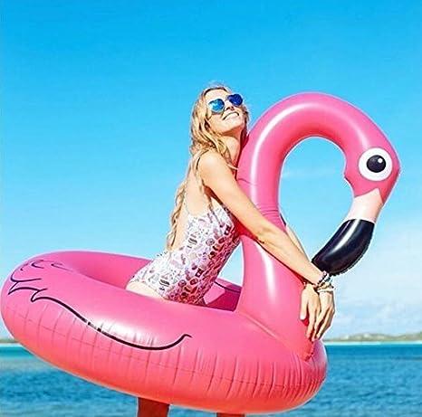 Flotador hinchable Gigante Flamenco para la piscina o playa, Flotador inflable en forma de flamencos gigante - SummerTime.: Amazon.es: Juguetes y juegos