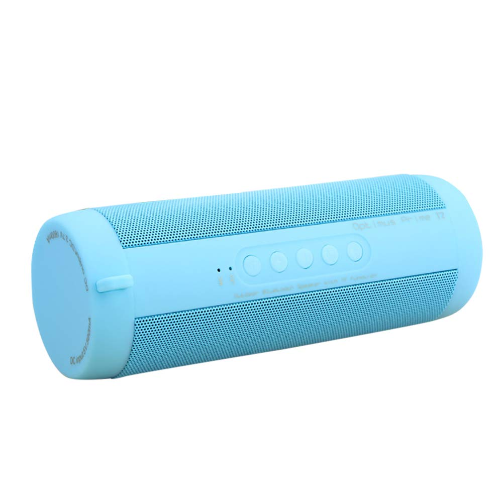 yunbox299 Bluetooth Speaker, Wireless Subwoofer Sound Box, Waterproof Outdoor HiFi Column Wireless Bluetooth Speaker Subwoofer Sound Box Blue