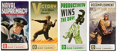 (Duke Cannon WWII Era Collection of Men's Big Brick of Soap: Accomplishment, Victory, Naval Supremacy, and Productivity)