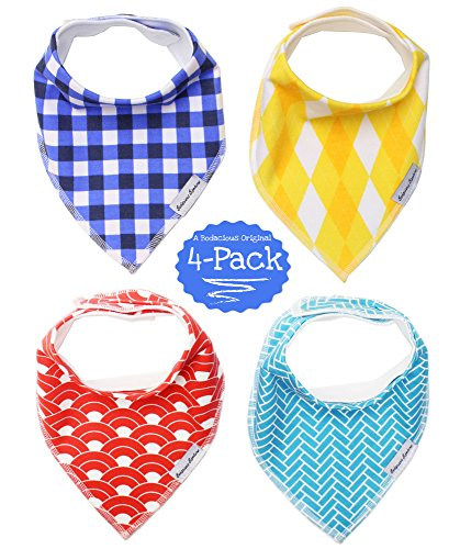 BB-Baby-Bibs-4-Pack-by-Bodacious-Bambino-Drool-Bandana-Bibs-for-Boys-Dapper-Drooling-Bibs-with-Style