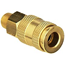 "Milton S-765 1/4"" MNPT V Style High Flow Coupler"
