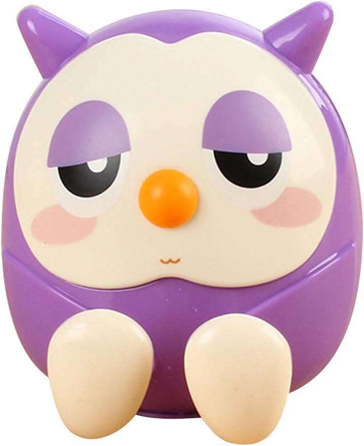 junshi11 Cute Owl Piggy Bank Money Coin Saving Box Phone Holder Stand Birthday Gift Smartphone Cellphone Mobile Phone Holder Kid Room Decor Purple