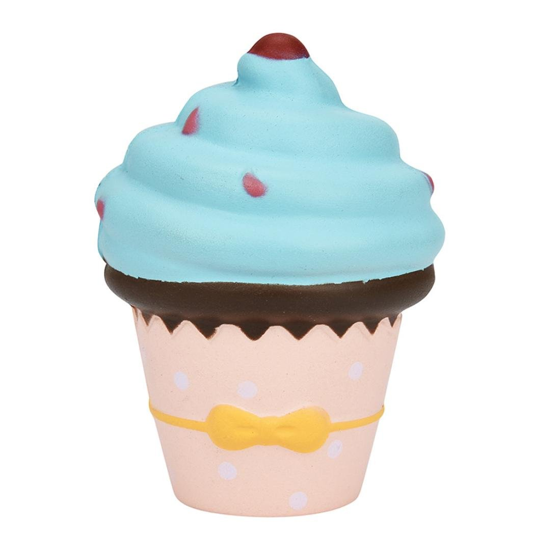 Squeeze Toy, Naladoo 1Pc Simulation Cup Cake Ice Cream Scented Squishy Charm Slow Rising Kids Decompression Toy IU32566436436