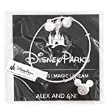 Disney Parks Alex and Ani Mickey Mouse Snowflake Icon Bangle Bracelet