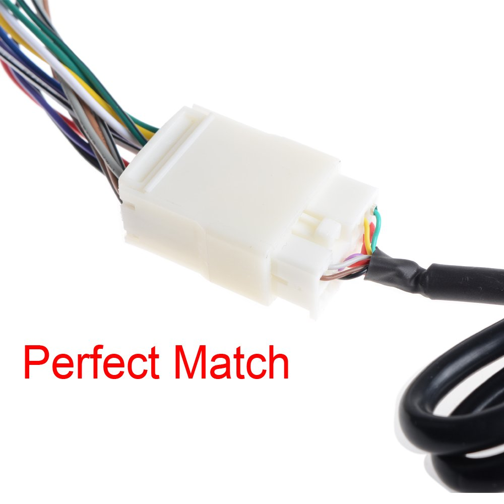 514bwNYP5pL._SL1000_ amazon com fit 03 14 honda car stereo wire harness adapter cable Car Radio Wiring Harness Diagram at crackthecode.co