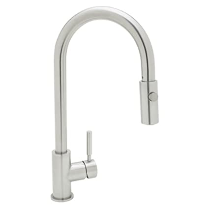 Rohl R7520SS Modern Kitchen Faucet With Pull Down Spray, Stainless Steel