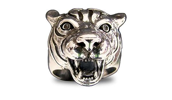 Anillo de bronce Pantera tigresa Roaring (tamaño H a Z + 3 ...