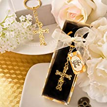 Dramatic Gold Metal Cross With Intricate Intertwined Design , 36