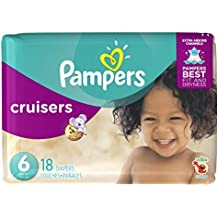 Pampers Cruisers Disposable Diapers Size 6, 18 Count, JUMBO