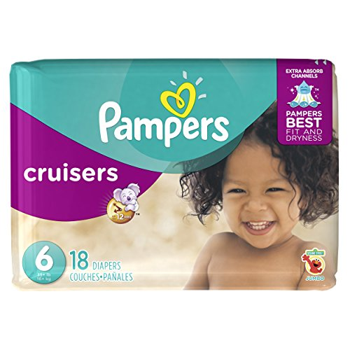 Pampers Cruisers Disposable Diapers Size 6, 18 Count, JUMBO (Pampers 6 Cruisers)