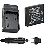 Battery and Charger for Leica C-Lux 2, C-Lux2, C-Lux3, C-Lux 3 Digital Camera