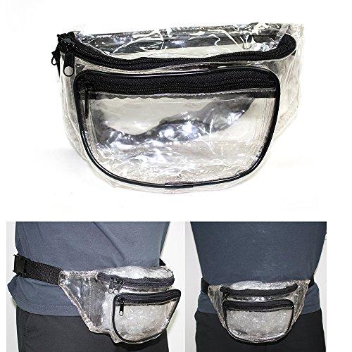 1-Clear-Fanny-Pack-Waist-Belt-Strap-Pouch-Bag-Travel-Sport-Hiking-Men-Women-New