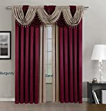 Fancy Kitchen Window Curtains Fancy collection High Quality Crinkled Rod-Pocket Window Treatment Curtain (1 Panel 54
