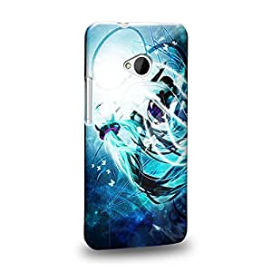 Case88 Premium Designs Vocaloid Miki Hatsune Miku 1172 Carcasa/Funda dura para el HTC One M7