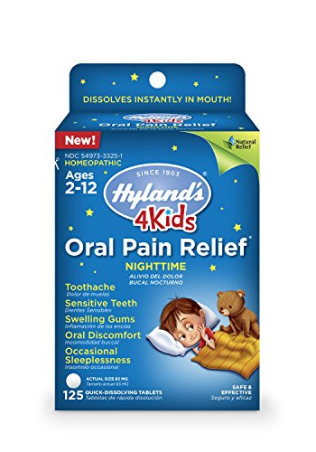 Hyland's 4 Kids Nighttime Oral Pain Relief Tablets, 125 Count