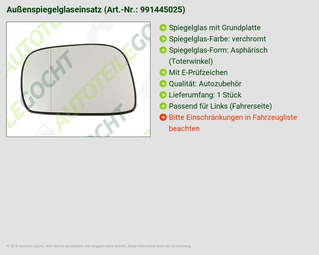 SPIEGELGLAS LINKS ASPH CHROM VON AUTOTEILE GOCHT