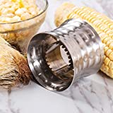 Corn Stripping Tool - Rerii Stainless Steel, Serrated Blade with Non-Slip Grip Corn
