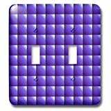 3dRose LSP_261920_2 Large Mosaic Tiles Pattern in Purple Toggle Switch,