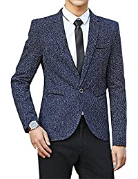 "<span class=""a-offscreen"">[Sponsored]</span>Cheryl Bull Fashion Mens Casual One Button Suit Tweed Business Skinny Blazer"