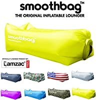 Inflatable Lounger and Indoor Outdoor Sofa: Lazybag Air Lounge Chair with Built-in Headrest | Banana Sleeping Bag, Hammock, Pool Float, Portable Camp Seat, Lazy Hangout Couch Bed (Camouflage)
